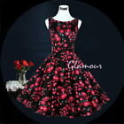 50s Hepburn Style Wedding Party Pinup Swing Vintage Dress