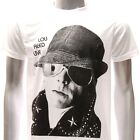 ASIA SIZE Sz S M L XL Lou Reed T-shirt American Rock 'n' Roll Animal Many Size