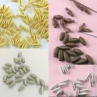 Pick 5-colors wire swirled 7mm long spacer bead for jewery making
