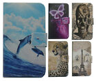 For Alcatel High-level PU Leather Phone Case Cover Skin Printed Dolphin