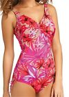 Fantasie Swimwear Cuba V Neck Swimsuit with Adj Leg Floral FS5997 SAVE 25%