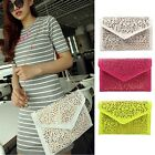 Hot Vintage Women's Handbag Cutout Envelope Bag Shoulder Crossbody Clutch Bag S