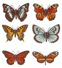 Set of 6 Butterfly Butterflies Select-A-Size Waterslide Ceramic Decals Bx image