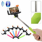 Bluetooth Remote Shutter Extendable Holder Selfie Stick Monopod for IOS Android