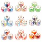 30/150pcs Clear Colorful Resin Spacer Charms Beads Fit European Bracelet Lots BS