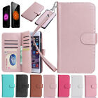Luxury Leather 9 Credit Card Slot Holder Flip Wallet Case for Apple iPhone 6 6s