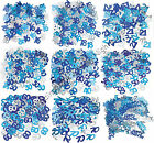 3 Bags Blue/Silver Table Confetti Sprinkles Birthday Party Decorations Boys Mens