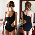 Sexy Cut-out Swimwear One Shoulder Women's Monokini Swimsuit Bathing Beachwear