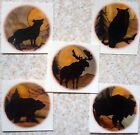 "Bear Moose Buffalo Wolf Owl 2 7/8"" Select Animal Waterslide Ceramic Decals Tx image"