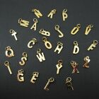 Smooth 18K gold Plated -Vermeil Letter Charms - A-Z LetterPendant