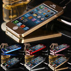 Luxury Case Aluminum Metal Brushed Hard Case Full Body Cover For iphone 5 5G 5S