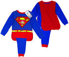 Boy's Official Superman Novelty Costume Pyjamas with Cape 2-8yrs NEW