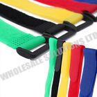 Reusable Coloured Velcro Hook & Loop Strap Straps Cable Ties Packs Of 10