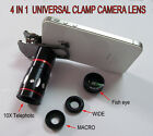 NEW 4 In 1 Universal Clamp Clip Camera photo lens Set for iPhone 4 5 5S Samsung