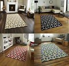 Hand Tufted Optical Illusion Modern Floor Rug with Geometric Design 100% Acrylic