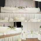 5M*1.35M Top Table Swags Sheer Organza DIY Wedding Party Bow Decorations Valance