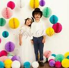 10PCS Paper Tissue Pom Poms Honeycomb Ball Wedding Party Home Hanging Decoration