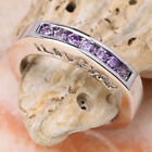 I Love You Purple Amethyst Semi-precious Stone SILVER Ring Size 6 /7 /8 /9 T7776