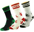 X 3 Ganja Marijuana Weed Leaf Smokin Cotton Rich Sports Socks UK 6-11/EUR 39-45