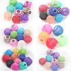 5/10/20Pcs Charms Large Mesh Big Hole Bling Rondelle Ball Beads Findings DIY