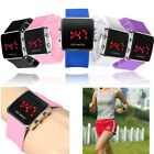 Fashion Silicone Digital LED Display Date Day Sports Wrist Watch Men Women Gift