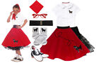 Hip Hop 50s Shop 8 pc Large Girls 10/12 Poodle Skirt Halloween Costume Set
