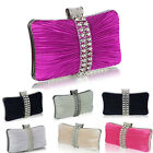 Ladies Designer Diamante Crystal Clutch Bag Women's Evening Handbag Purse Bridal