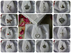 1 X SILVER COLOUR NECKLACE WITH SILVER PENDANT + GIFT BOX,Fairy,Cross,Heart,etc