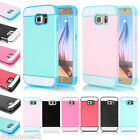 Card Hold ShockProof Slim Hybrid Combo Case Cover for Samsung Galaxy S6