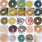 5-9mm Strand Cultured Freshwater Round Luster Pearl Loose Bead Charm Finding DIY