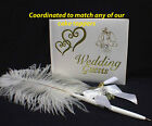 COORDINATED Wedding Guest Book  Pen Holder Match any of OUR Wedding Cake Toppers