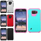 Hybrid Anti-Shock Protection Dual Layer Case Cover For Samsung Galaxy S6 Edge