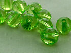 8mm 100/../500pcs CLEAR GREEN FACETED ACRYLIC PLASTICROUND BEADS TY2353