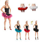 Ladies 2 Layer Short Ruffle Tutu Women's Qulaity Hen Party Skirt Dance One Size