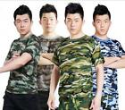 Mens Womens Camouflage Tactical Military Short Sleeve T-Shirt Quick Dry Tee Tops