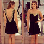 Women Sexy Dress Slim Bodycon Party Evening Clubwear Lace Summer Casual Clothes