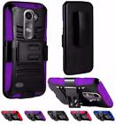For LG Risio Tribute 2 LS665 Leon C40 Power L22C Side Stand Holster Cover Case