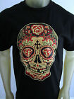 Red Diamond Sugar Skull Muerto dead tee shirt men's black choose A size