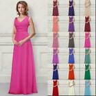 A-line Bridesmaids Dresses Long Evening Prom Gown Women's Dress All Size 6-26