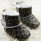 Toddler Baby girl Army green Leopard Snow shoes size 0-6 6-12 12-18 Month