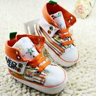 Toddler Baby boy girl crib shoes High-top sneakers size 0-6 6-12 12-18 Month