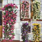 1 Bunches Artificial Lily Flower Vine Garland Home Garden Hanging Decoration New