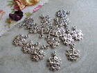 20 x Greenman Silver Tibetan Charms, Pagan,Wiccan,Goth,New Age,Jewellery Making,