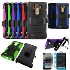 Phone Case For LG G4 Rugged Cover Stand Tempered Class Screen Holster Belt Clip