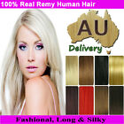 "Real Clip in Remy Human Hair Extensions Full Head Weft 16""18""20""22""24"" Promotion"