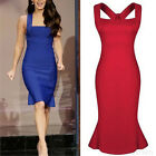 Sexy Lady Sleeveless Bodycon Square Neck Party Club Cocktail Evening Mini Dress