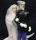 Marine Officer Blond BR YOUR Choice: Wedding Cake Topper, Glasses Server or Book