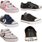New Boys Girls Kids All Star Chuck Taylor Velcro Strap Trainers Shoes Sizes Uk
