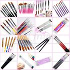 Pro Nail Art Pen Brush Set UV Gel Acrylic Dot Painting Polish Brushes Colorful