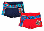 Boys Marvel Spiderman Web Trim Swimming Boxer Trunks Swim Briefs 3 - 8 Years NEW